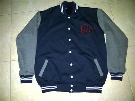 desain jaket biru dongker jaket baseball polos jaketbaseballpolos