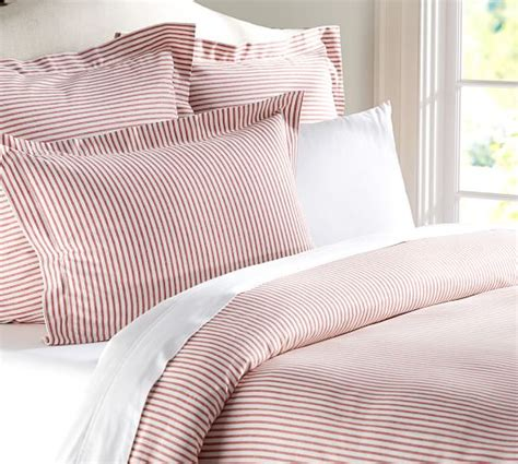 blue ticking comforter vintage ticking stripe duvet cover sham pottery barn