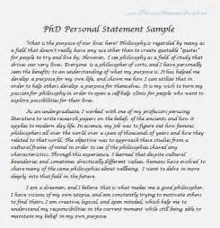 exles of personal statements for masters