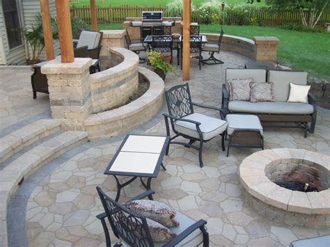 Pictures Of Backyard Patios by Backyard Patio Traditional Patio Chicago By American Bluegrass Landscaping Inc
