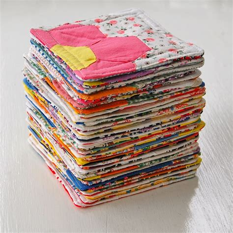 Patchwork Coasters - quilted vintage patchwork coasters set of 2 7 50 via