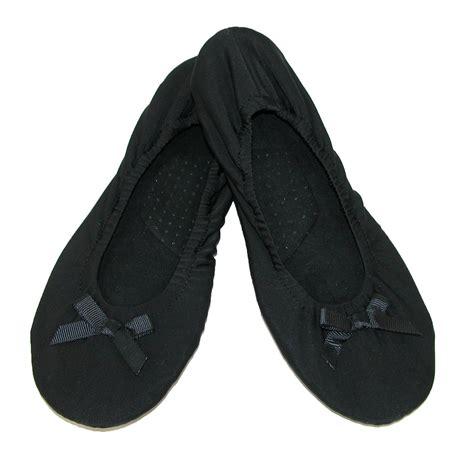 ballerina slippers for womens matte spandex ballerina slippers by dearfoams