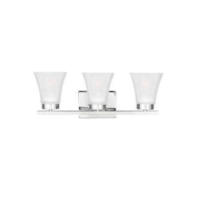 sea gull lighting bayfield 3 light chrome wall sconce