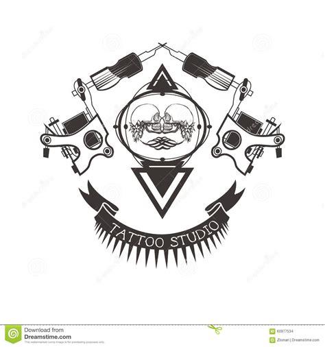 tattoo logo com tattoo studio logo emblem stock vector image 60977534