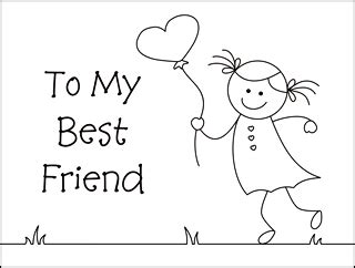 Friendship Color In Card Templates by Bff Big Coloring Pages Coloring Pages