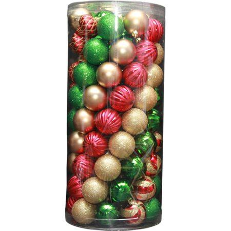 walmart ornaments pack time 101 shatterproof ornament set and green walmart