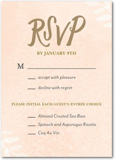 wedding invitation reply wording sles 25 best ideas about wedding response cards on