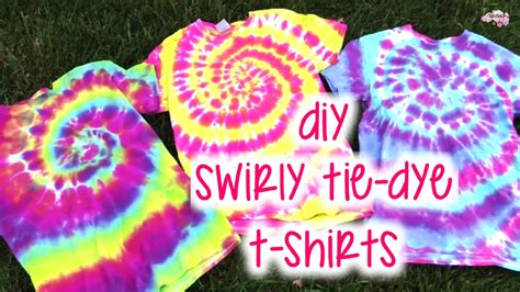 diy swirly tie dye t shirts how to tutorial