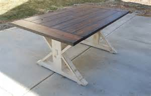Create Your House Plan Kent Dining Table Trestle X Farmhouse Reclaimed Wood