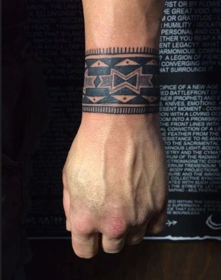 wrist band tattoos for men best traditional wrist band design for