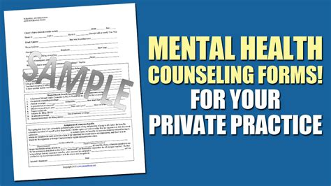 Mental Health Counseling Forms For Your Private Practice Youtube Mental Health Website Templates