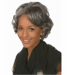 gray american hair styles african american short silver gray wigs heat resistant