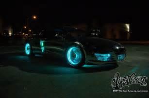 west coast customs unveil tron themed audi r8 race car ces 2011 extravaganzi