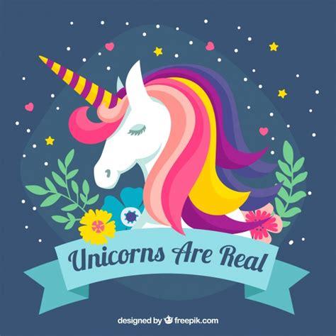 ver imagenes unicornios fundo colorido de unic 243 rnio e elementos florais baixar