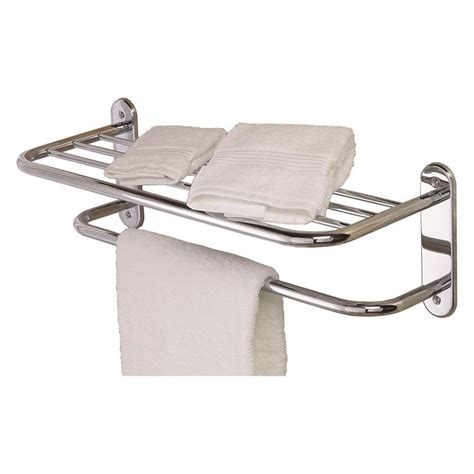 Chrome Towel Racks shop gatco essentials chrome metal towel rack at lowes