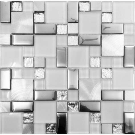 glass tile bathroom ideas silver metal and glass tile backsplash ideas bathroom