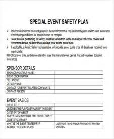 event safety plan template image collections templates
