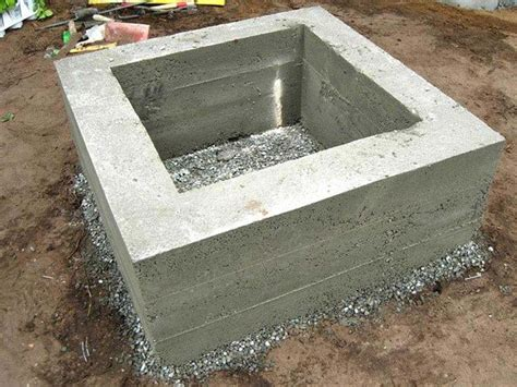 cast concrete pit pit landscaping ideas