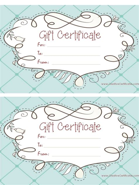 personalized gift certificate template free gift certificate template customize and