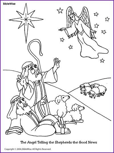 angels shepherds gloria coloring page thecahtolickid coloring angel telling shepherds about jesus birth
