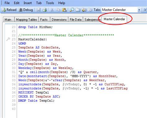 qlikview calendar tutorial qlikview scripting tips creating a master calendar matt