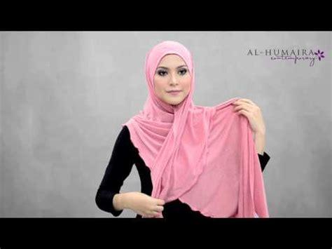 tutorial jilbab humaira elyashazleen simple style shawl funnydog tv