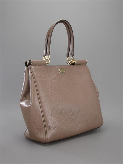 Dolce And Gabbana Taska Grey Handbag by Lyst Dolce Gabbana Frame Tote Bag In Gray