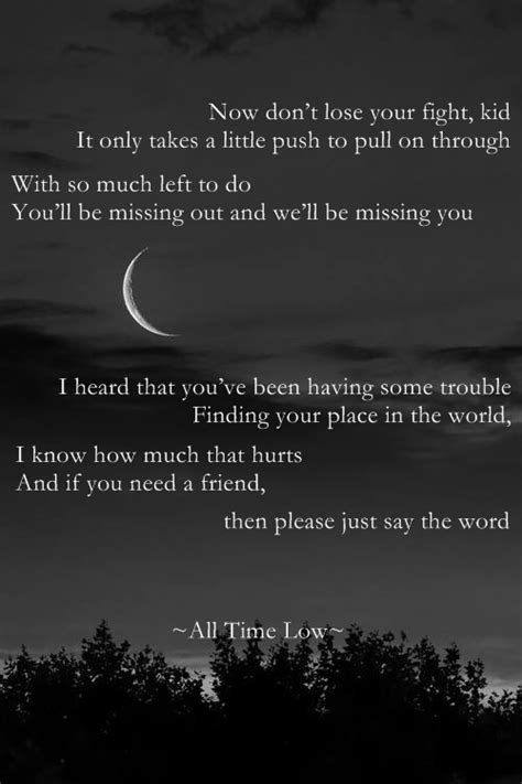 all time low lyrics missing you a z lyrics whi get lost in what you love