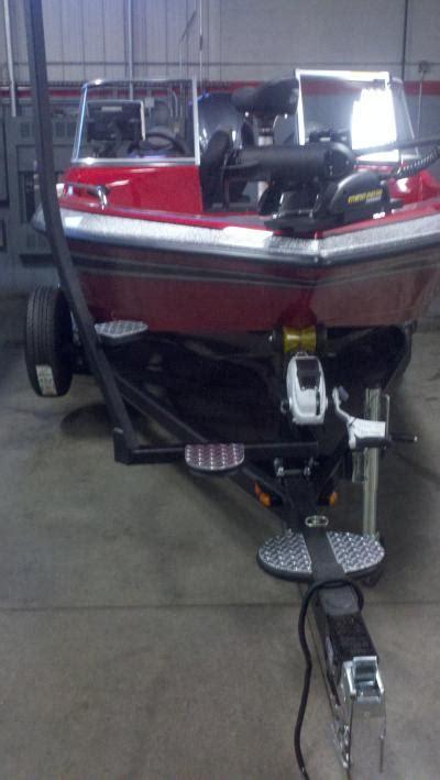 boat trailer mounted ladder trailer steps skeeter boats in depth outdoors
