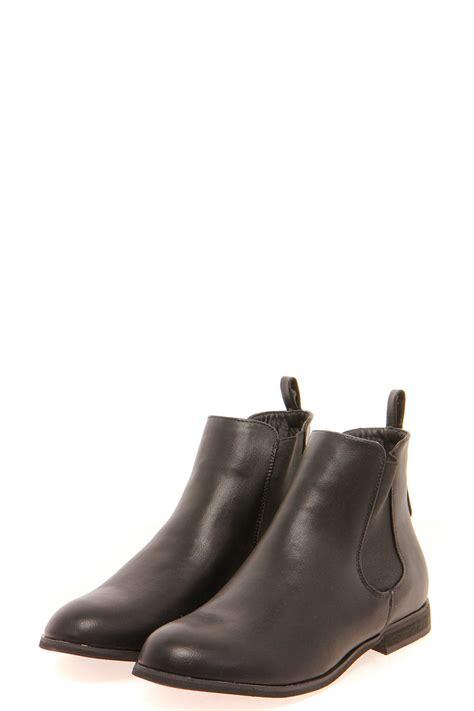 boohoo womens elastic insert flat chelsea boot in