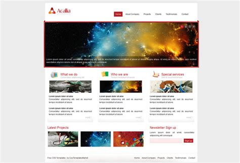 html homepage templates free html5 and css3 templates 4