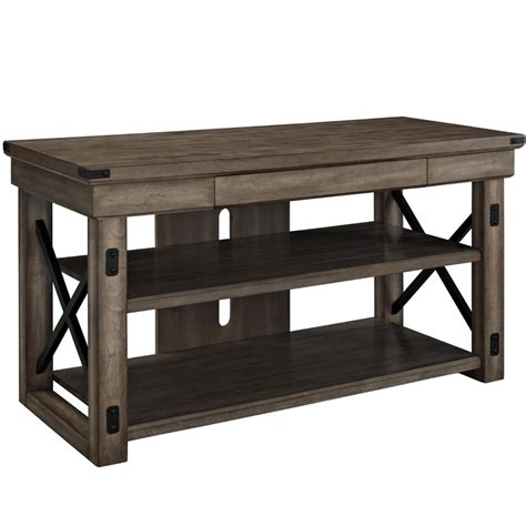 rustic wood tv stand in tv stands - Rustic Tv Stand