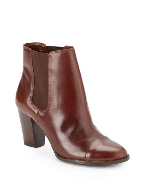 saks fifth avenue black label sloane leather ankle boots
