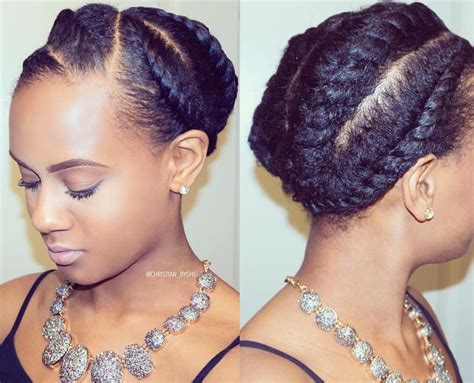 flat twist with synthetic hair updos protective natural hair styles on instagram by