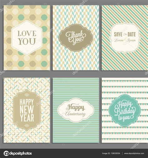 illustartor miss you card templates greeting card template typographic design with ornaments