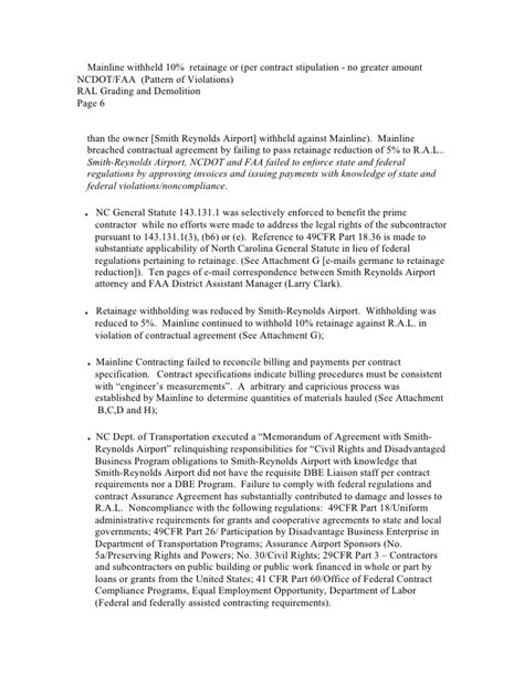 Faa Letter Of Agreement Format A Letter To Carolina Department Of Transportation And Faa