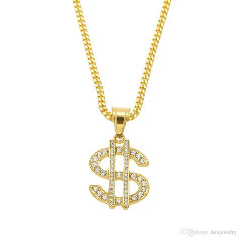 Bling Bling wholesale 18k gold plated hip hop bling bling dollar sign