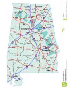 road map of alabama and alabama interstate highway map stock illustration image