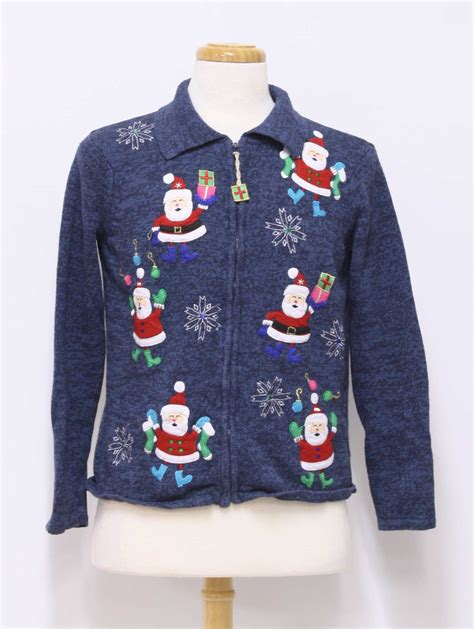 womens ugly christmas sweater tiara womens blue