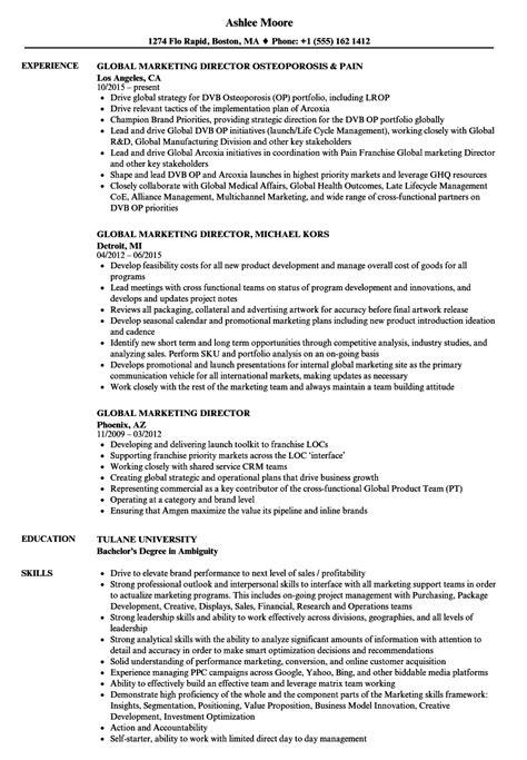director of marketing resume exles marketing director resume exles exles of resumes