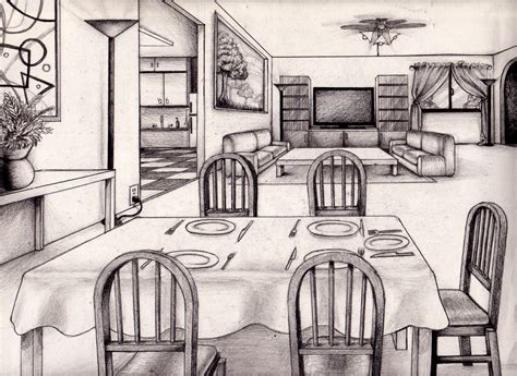 one point perspective living room one point perspective living room drawing