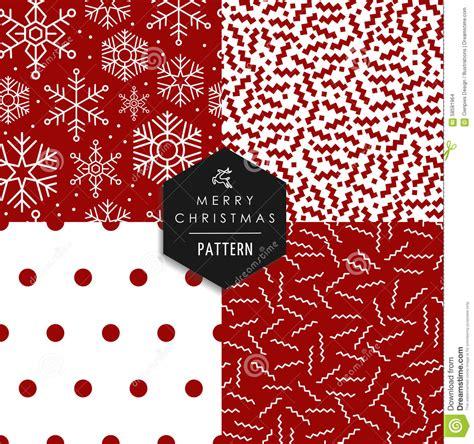 christmas pattern lines merry christmas 80s retro seamless pattern set stock
