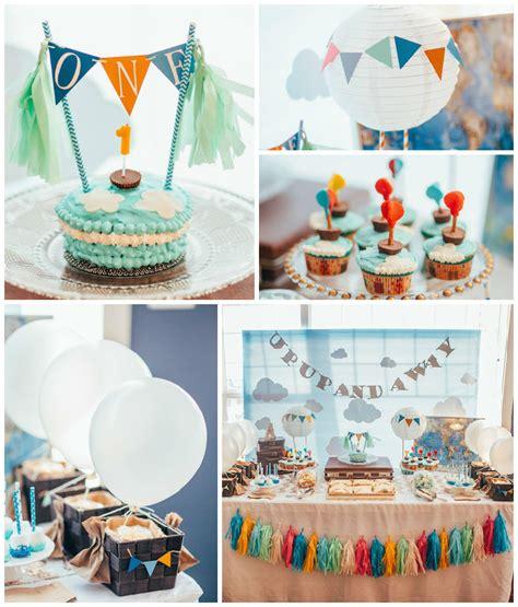 1st birthday decoration themes kara s ideas up up away 1st birthday via