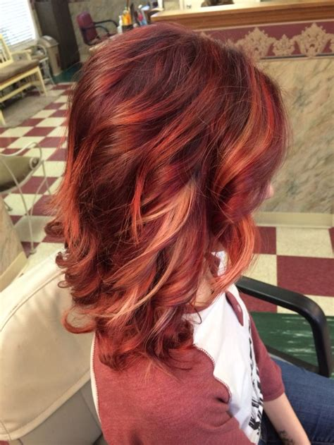 brown hair red tint blode highlights latest ideas for brown hair with red and blonde highlights