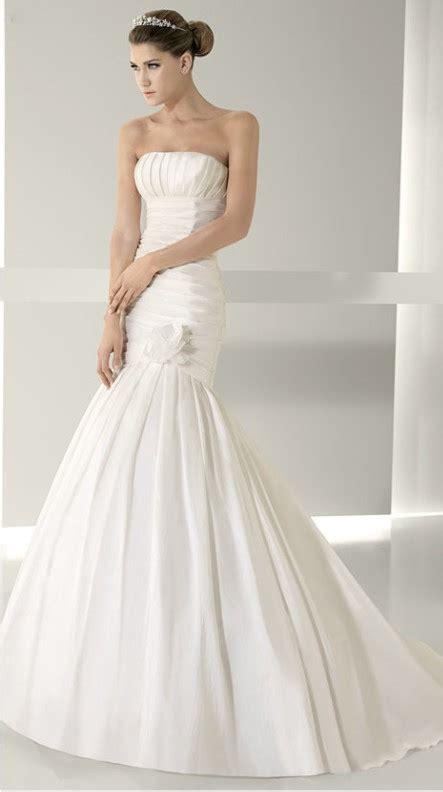 Dress Aa satin neckline bodice empire new strapless weddin