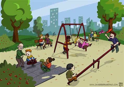 imagenes de niños jugando en un columpio para colorear berny art javier bernardino parque infantil