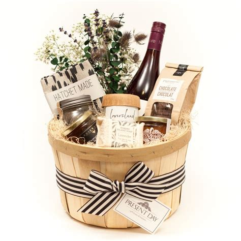 new appropriate wedding gift for coworker wedding a toronto gift basket with a selection of local luxuries