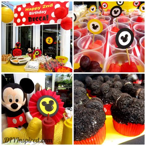 themed birthday decorations mickey mouse theme diy inspired