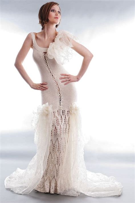 knit wedding dress knit wedding gown pearl 36 38