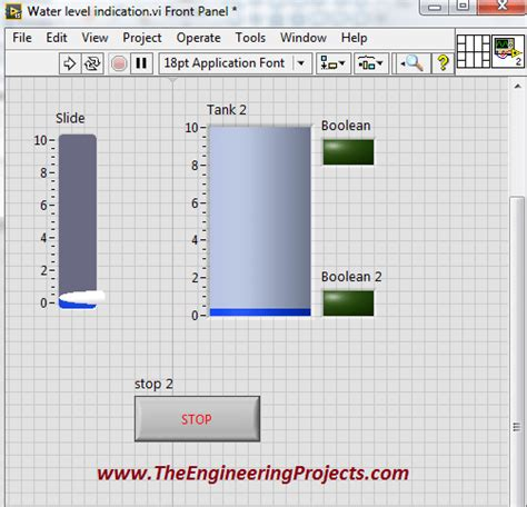 online tutorial labview water level detector in labview the engineering projects